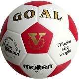 MOLTEN #5 Size 5 [S5G-GOAL] - Red - Bola Sepak / Soccer Ball